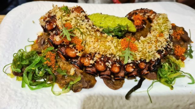 Octopus with beans from Krutovo Konare by chef Velikov and chef Boykovski in the Cookery