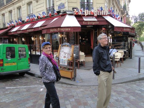 My parents enjoying a great street in the Latin Quarter of Paris.