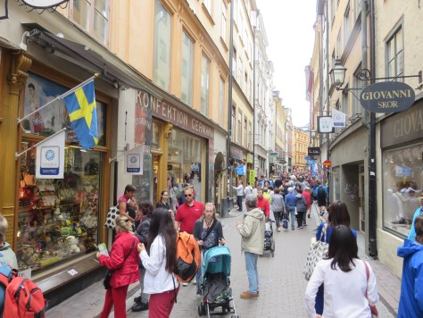 Alley in Stockholm's 700-year-old Old Town