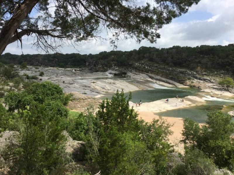 Scenic Overlook at Pedernales Falls State Park in Texas