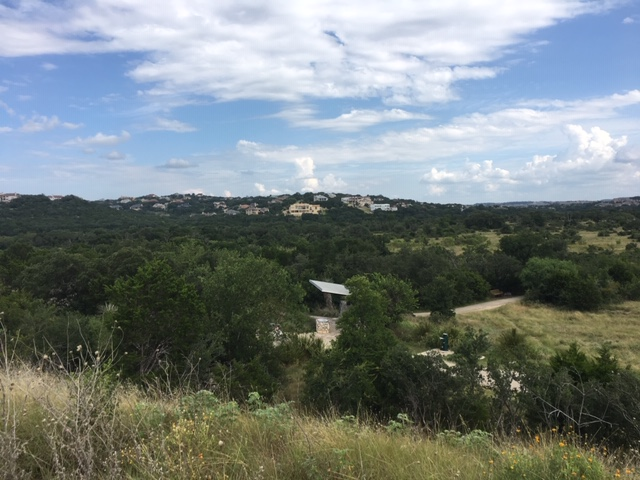 Scenic view of Stone Oak Park from the hill.