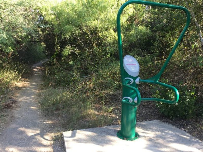 The San Antonio parks usually contain exercise equipment.