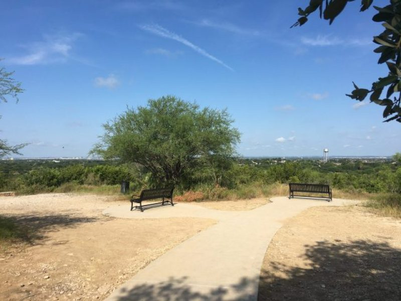 A few benches allow you to sit and enjoy the views.