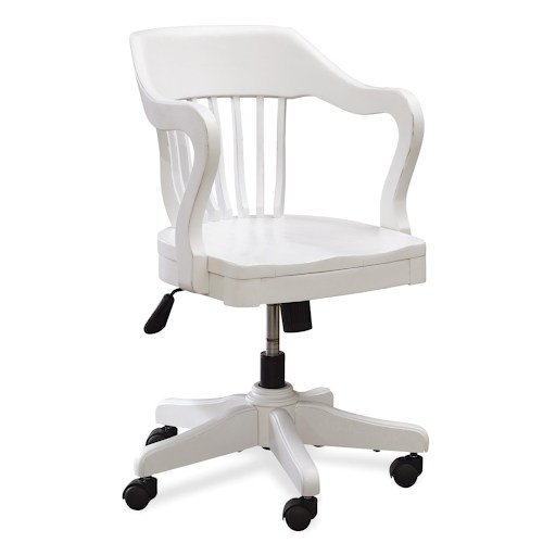 white-swivel-office-chair