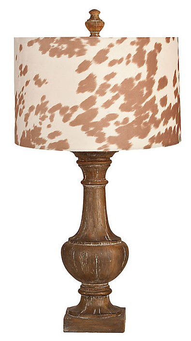 cow print cotton table lamp