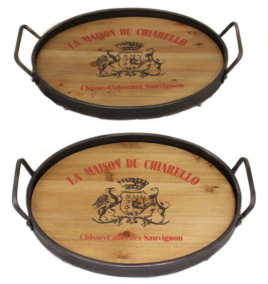 La-Maison-Du-Chiarello-Wood-Metal-Serving-Trays
