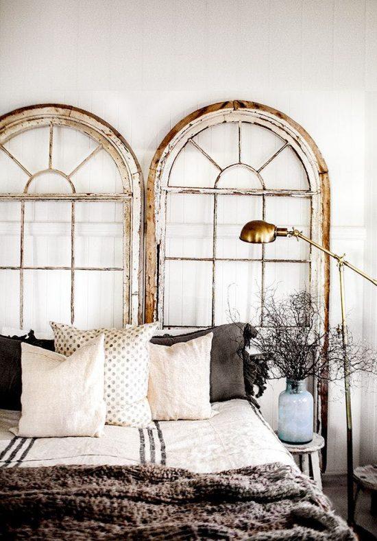 arched windows headboard