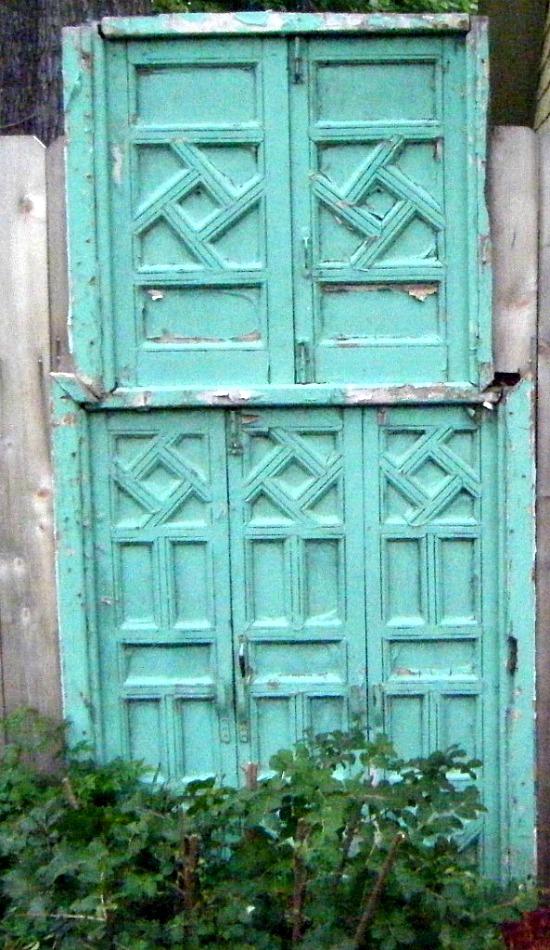 repurposed doors gate