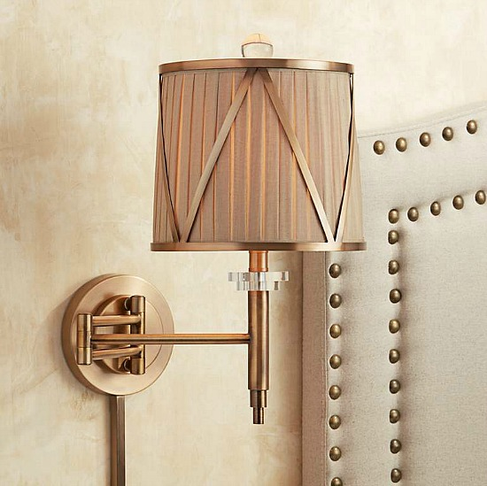 swing arm wall with sconce shade