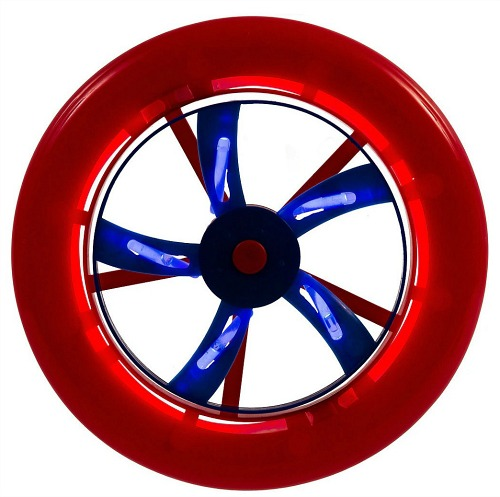 red white blue glow wheel