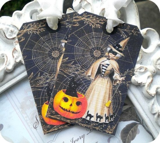 Victorian Witch Gift Tags
