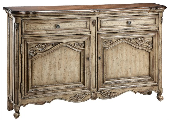antiqued sideboard