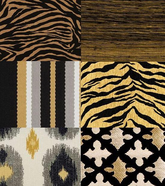 black-gold-fabric