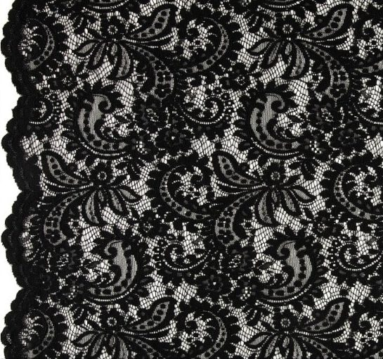 Telio Amelia Lace Black Fabric