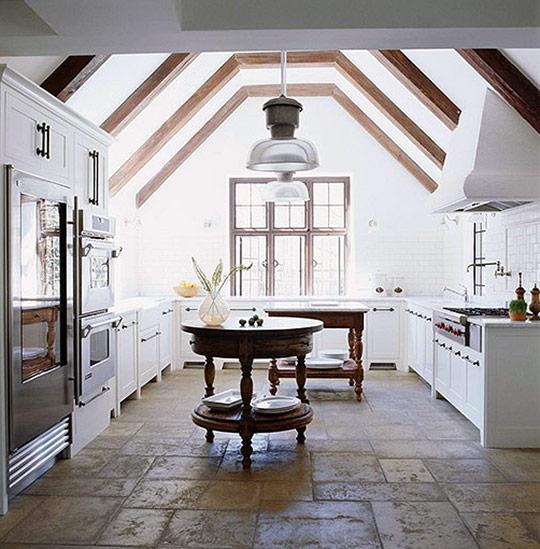 antique-tables-as-kitchen-islands