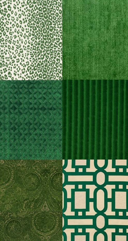 green-fabric-swatches