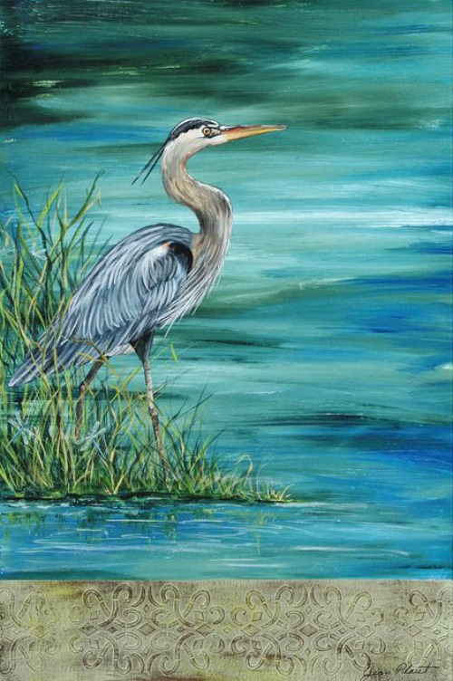 Great+Blue+Heron+Graphic+Art+Print+on+Wrapped+Canvas