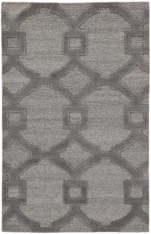Bohara Trellis Hand-Tufted Wool Gray Area Rug