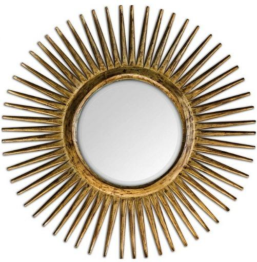 Uttermost 5032 Destello Starburst Rounded Mirror