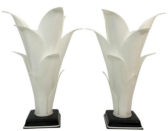 rougier-palm-leaf-lucite-lamps