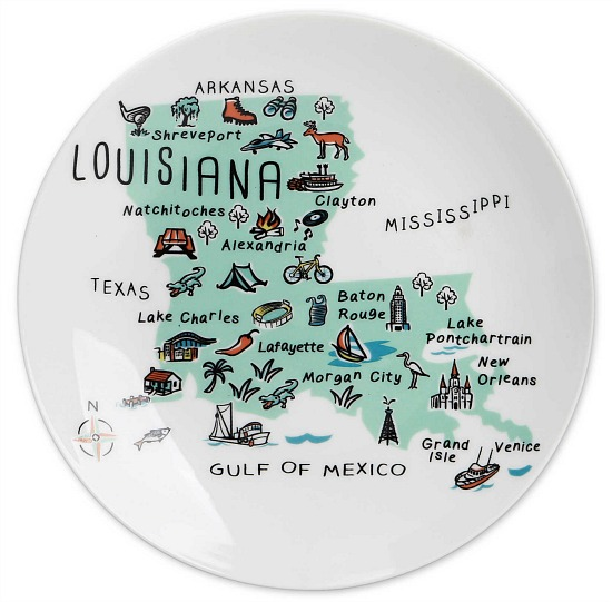 My Place Louisiana Appetizer Plates (Set of 4)