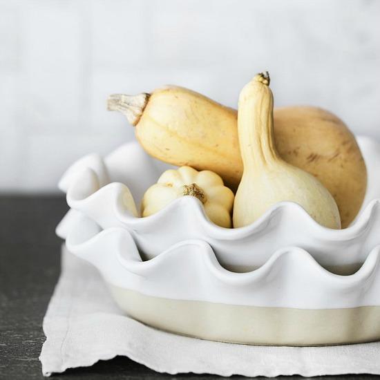 Emile Henry Artisan Deep Ruffled Pie Dish