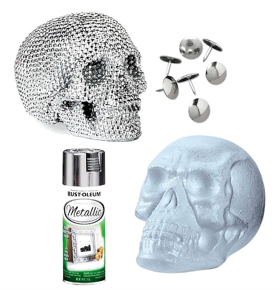 metallic-skull-head