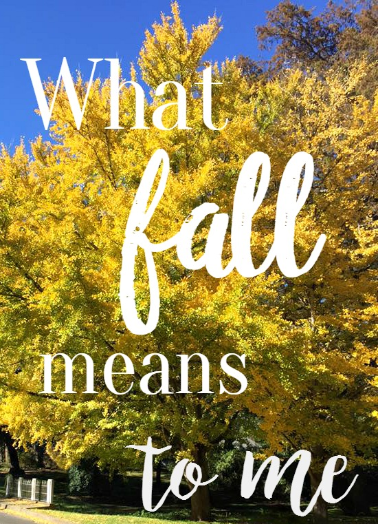 what fall means to me