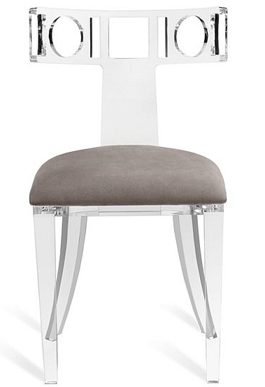 Ardsley+Acrylic+Klismos+Upholstered+Dining+Chair