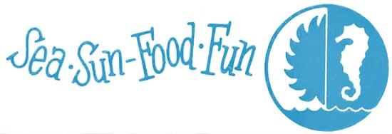 sea sun food fun sticker