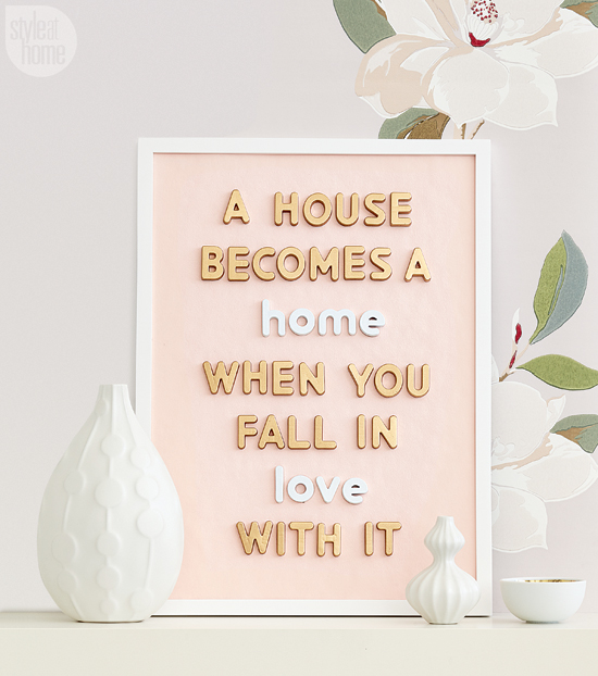 house becomes a home