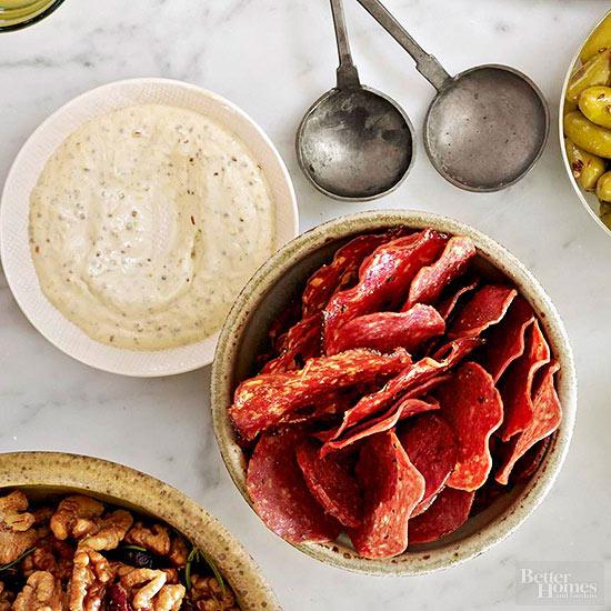salami-chips-grainy-mustard-dip