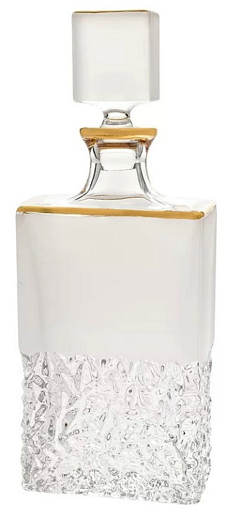 Rondo Crystal Whiskey/Liquor Rectangular 25 oz. Decanter