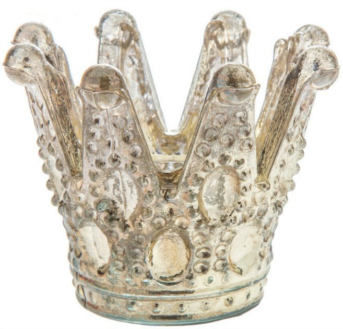 Vintage Gold Crown Candle Holder
