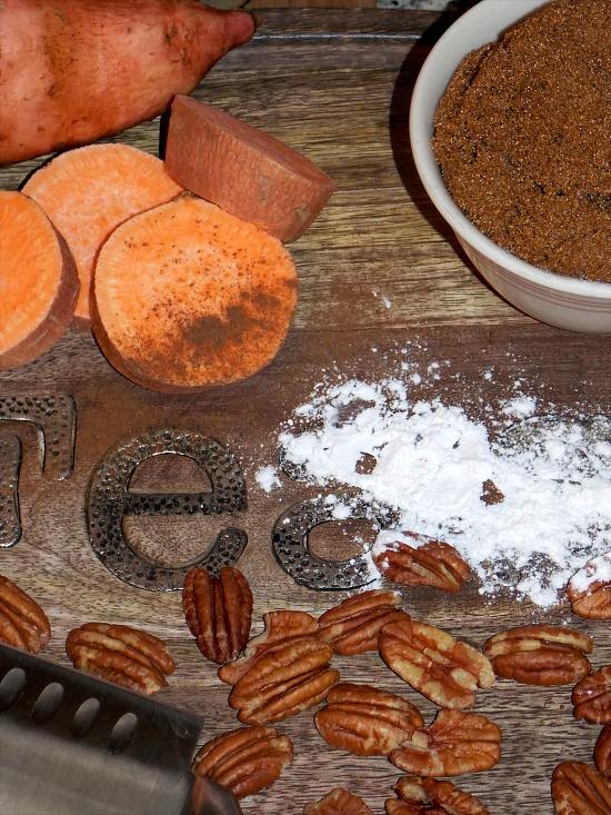 sweet-potatoes-pecans-flour-brown-sugar