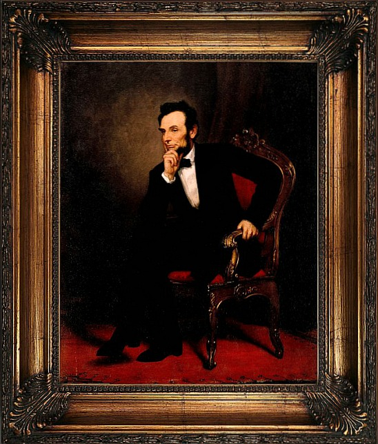 Abraham+Lincoln+1869+Framed+Graphic+Art+Print+on+Canvas