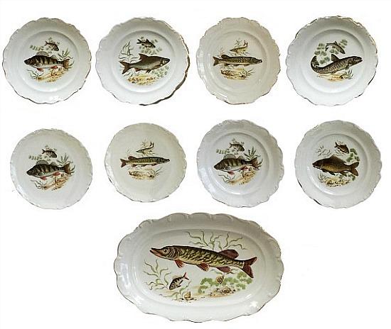 vintage-fish-plate-set