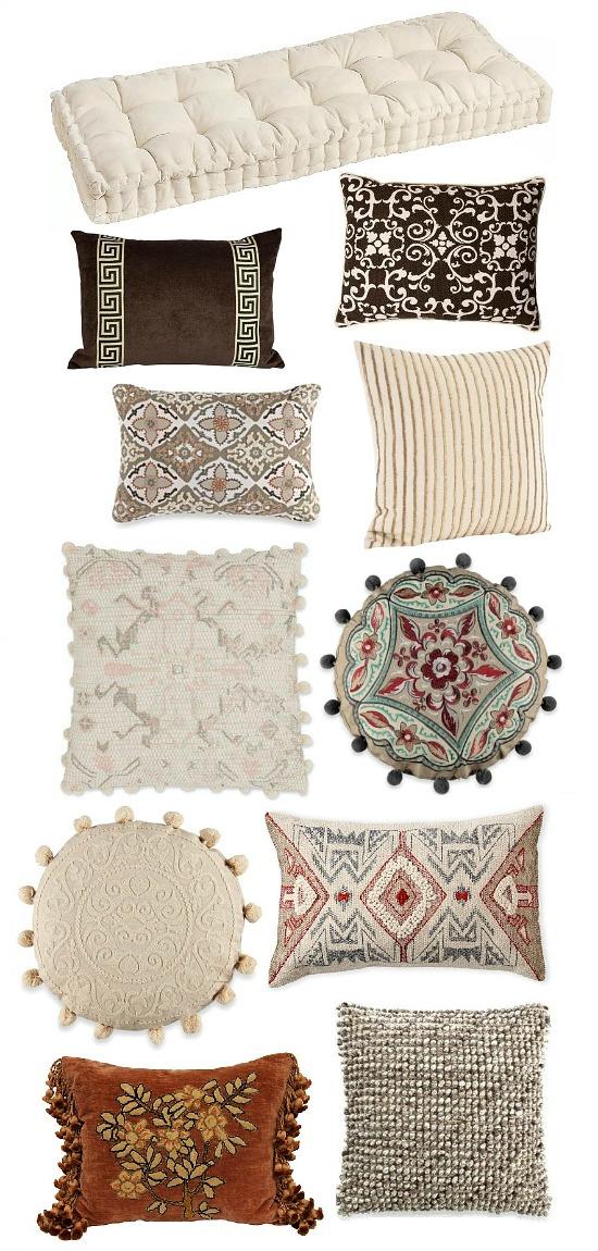 bench-pillows