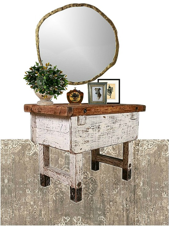 farmhouse-foyer-table