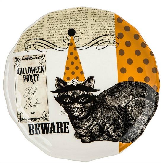 Halloween-cat-plate