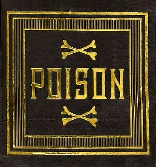 Martha Stewart Poison Cocktail Napkins