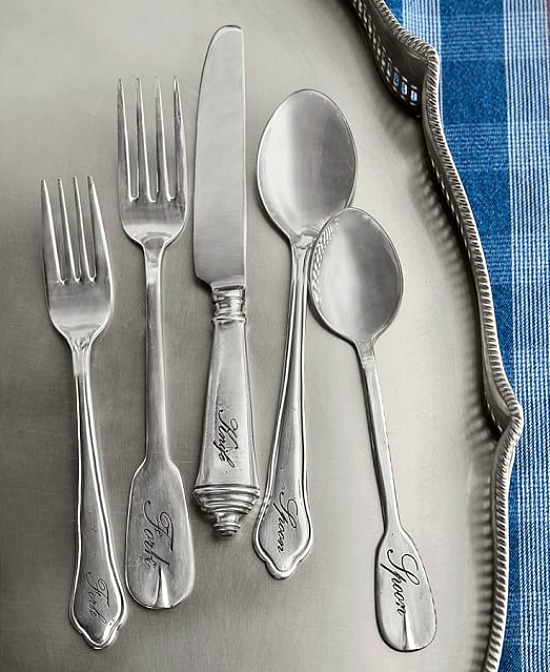 Antique Silver Sentiment Flatware