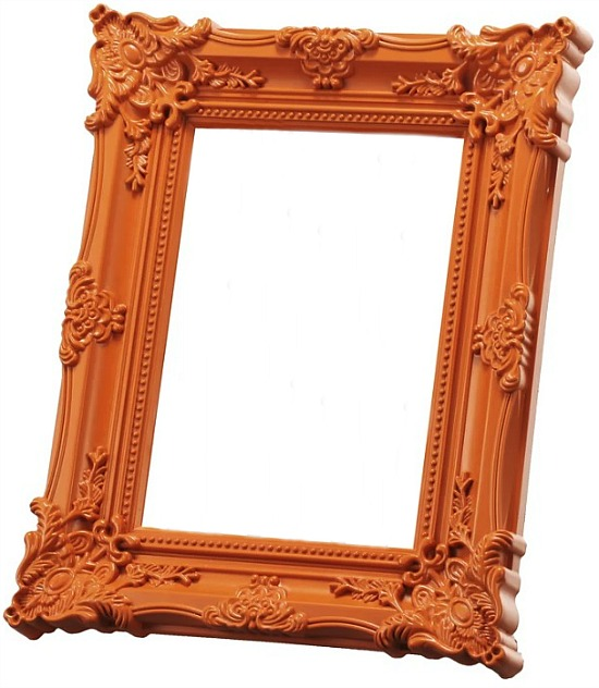 baroque-orange-picture-frame