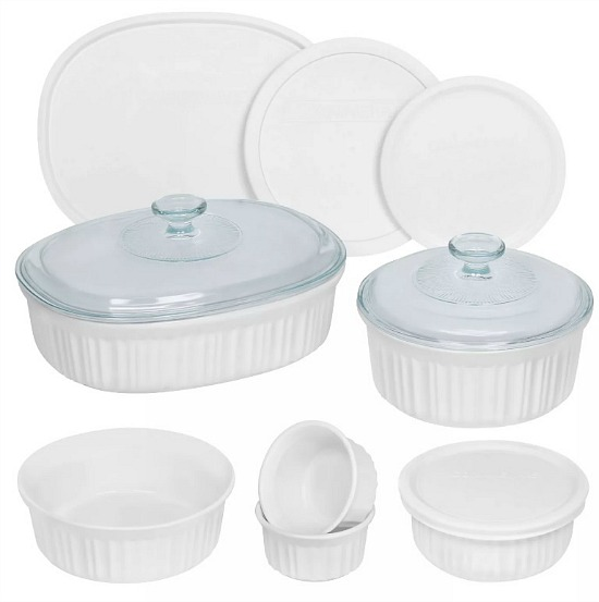 Corningware 12 Piece Mixed Bakeware Set