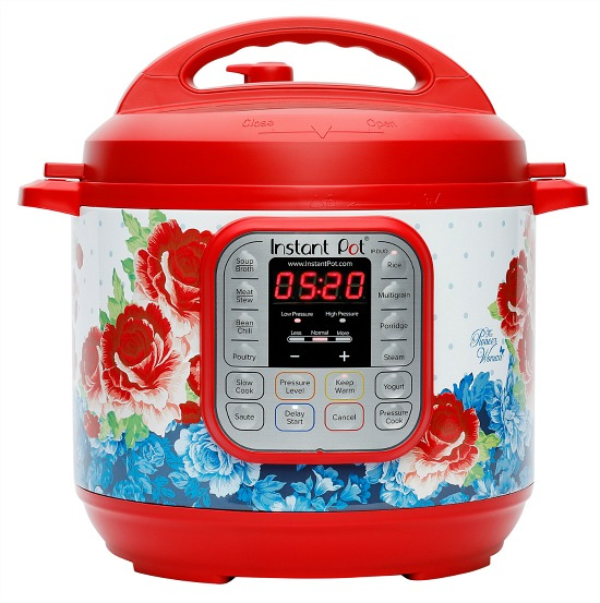 The Pioneer Woman Instant Pot DUO60 7-in-1 Frontier Rose 6-Quart Programable Multi-Cooker