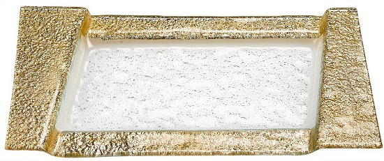 Badash Crystal Rimini Gold Serving Tray