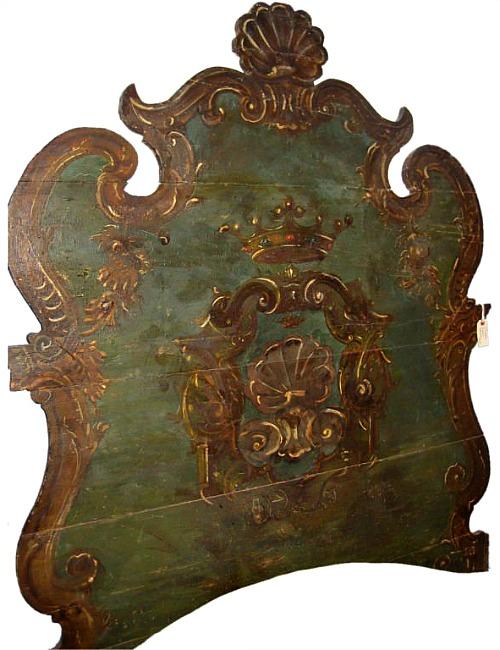 Italian 18th Century Painted Head Board