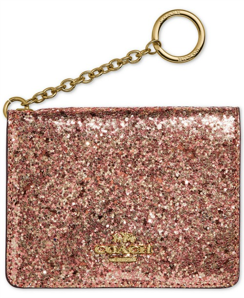 Coach Glitter Key Ring Card Case