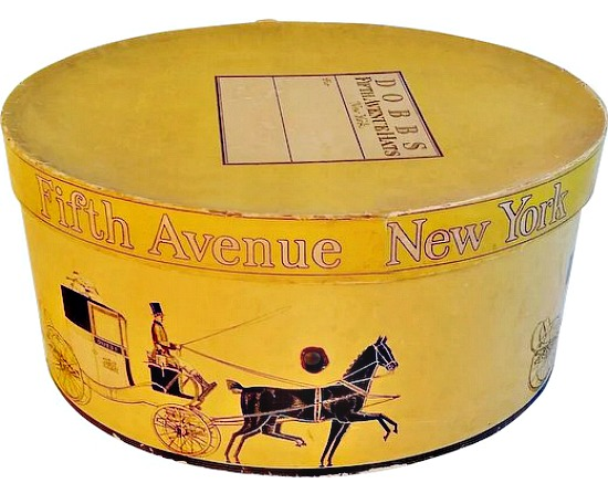 Vintage Oval Hat Box Dobbs Fifth Avenue