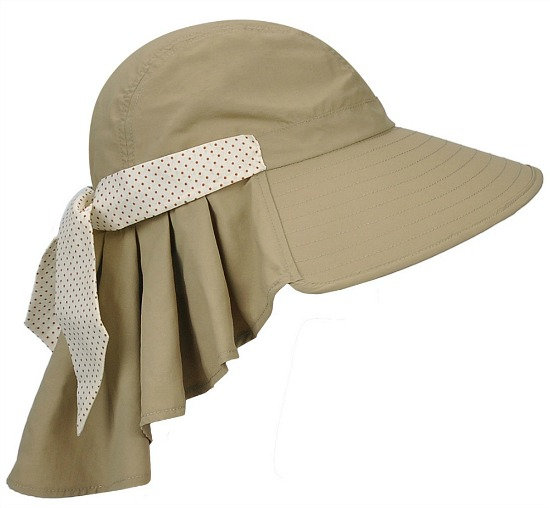Tirrinia Ladies Wide Brim Sun Flap Cover Cap Adjustable Beach Gardening Hat